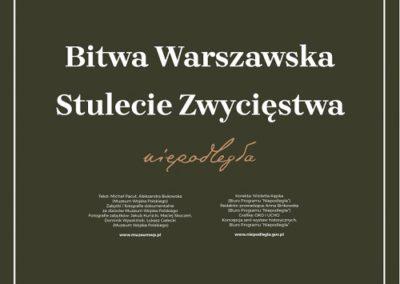 Bitwa Warszawska. Stulecie Zwycięstwa – wystawa on-line